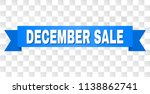 december sale text on a ribbon. ... | Shutterstock .eps vector #1138862741