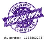 american union stamp seal... | Shutterstock .eps vector #1138863275