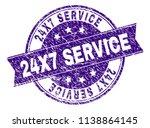24x7 service stamp seal imprint ... | Shutterstock .eps vector #1138864145
