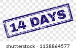 14 days stamp seal imprint with ... | Shutterstock .eps vector #1138864577