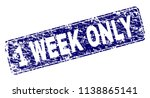 1 week only stamp seal print... | Shutterstock .eps vector #1138865141