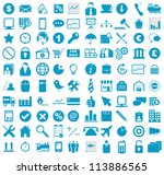vector illustration of blue... | Shutterstock .eps vector #113886565