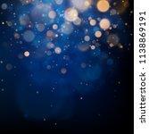 blurred bokeh light on dark... | Shutterstock .eps vector #1138869191