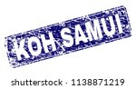 koh samui stamp seal print with ... | Shutterstock .eps vector #1138871219