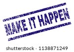 make it happen stamp seal... | Shutterstock .eps vector #1138871249