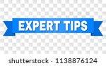 expert tips text on a ribbon....   Shutterstock .eps vector #1138876124