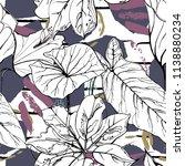 tropical  modern stripes motif. ... | Shutterstock .eps vector #1138880234