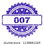 007 stamp imprint with dirty... | Shutterstock .eps vector #1138881269