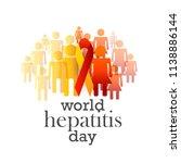 illustration of world hepatitis ... | Shutterstock .eps vector #1138886144