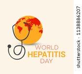 illustration of world hepatitis ...   Shutterstock .eps vector #1138886207