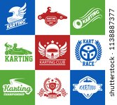 karting or kart car racing... | Shutterstock .eps vector #1138887377