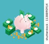 piggy bank finance | Shutterstock .eps vector #1138890914