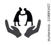elderly protect icon | Shutterstock .eps vector #1138891427