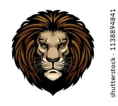 lion head in detailed style | Shutterstock .eps vector #1138894841