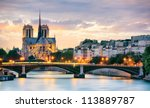 notre dame de paris  france | Shutterstock . vector #113889787