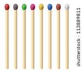 Matches Set. Illustration For...