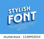 vector stylish font.... | Shutterstock .eps vector #1138902014