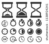 time and clock icons vector... | Shutterstock .eps vector #1138924241