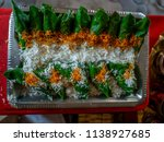 sweet paan betel leaves with... | Shutterstock . vector #1138927685