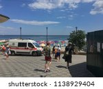 an ambulance on the seafront of ... | Shutterstock . vector #1138929404