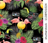 tropics seamless pattern   Shutterstock .eps vector #1138931024