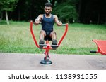african american male athlete... | Shutterstock . vector #1138931555