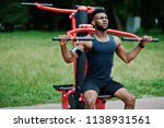 african american male athlete... | Shutterstock . vector #1138931561