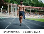 african american male athlete... | Shutterstock . vector #1138931615