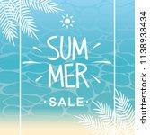 summer sale and beach... | Shutterstock .eps vector #1138938434