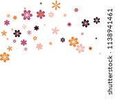 feminine floral pattern with... | Shutterstock .eps vector #1138941461