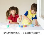 kilds playing at home or... | Shutterstock . vector #1138948094