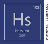 hassium  hs chemical element... | Shutterstock .eps vector #1138955237