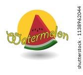 a set watermelon 3d logo emblem | Shutterstock .eps vector #1138962044