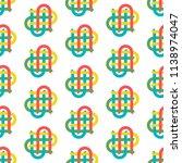 vector illustration of knot for ... | Shutterstock .eps vector #1138974047