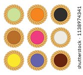 vector jam and chocolate pie... | Shutterstock .eps vector #1138974341