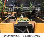 exterior table cafes on the... | Shutterstock . vector #1138982987