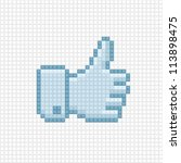 thumb up icon in the style of... | Shutterstock .eps vector #113898475