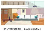 comfortable living room with... | Shutterstock .eps vector #1138986527