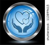 Love In Hands. Internet Button...