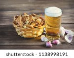 home snack for beer as rye... | Shutterstock . vector #1138998191