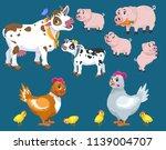 lovely cartoon and happy farm... | Shutterstock .eps vector #1139004707