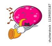 with trumpet ellipse mascot...   Shutterstock .eps vector #1139005187