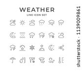 set line icons of weather | Shutterstock .eps vector #1139009861