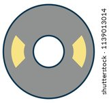 cd outline isolated with color ... | Shutterstock .eps vector #1139013014