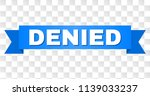 denied text on a ribbon.... | Shutterstock .eps vector #1139033237