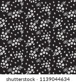 cute small flower pattern on... | Shutterstock .eps vector #1139044634