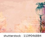 watercolor fall texture old... | Shutterstock . vector #1139046884