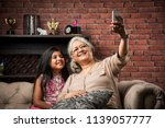 happy moments with grandma ... | Shutterstock . vector #1139057777