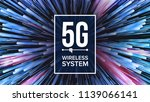 5g wi fi standard background... | Shutterstock .eps vector #1139066141