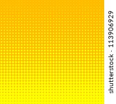 vector halftone dots. yellow... | Shutterstock .eps vector #113906929